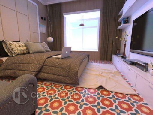 Gạch bông CTS 78.1 lát nền phòng ngủ