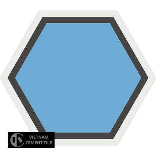 Gạch bông lục giác CTS H404.3(4-13-31) - Encaustic cement tile Hexagon CTS H404.3(4-13-31)
