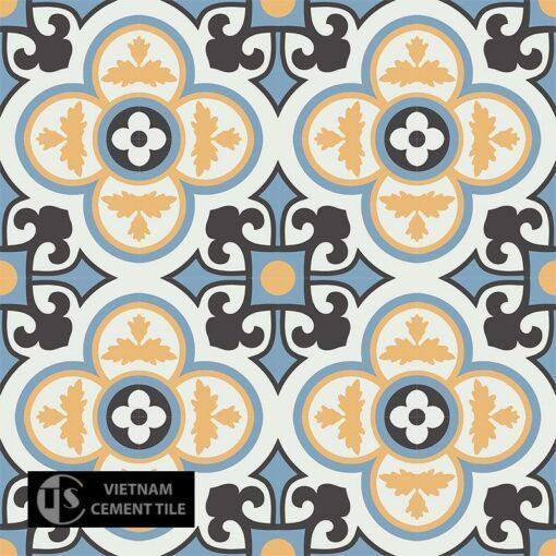 Gạch bông CTS 129.7(4-6-13-16) - 16 viên - Encaustic cement tile CTS 129.7(4-6-13-16) - 16 tiles