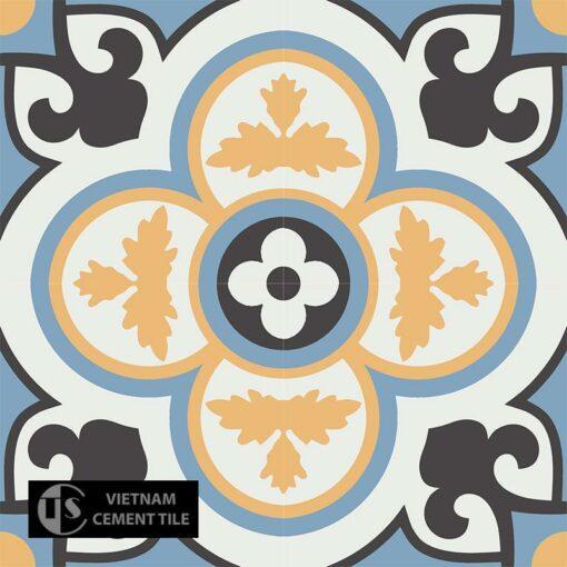 Gạch bông CTS 129.7(4-6-13-16) - 4 viên - Encaustic cement tile CTS 129.7(4-6-13-16) - 4 tiles