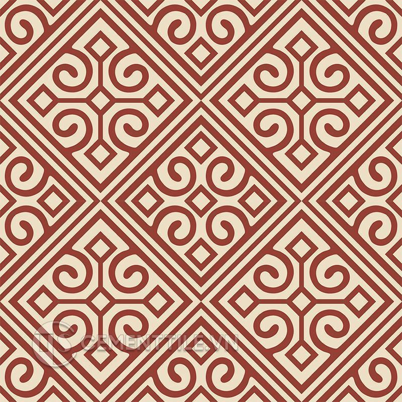 Gạch bông CTS 136.2(59-62) - 4 viên - Encaustic cement tile CTS 136.2(59-62) - 4 tiles