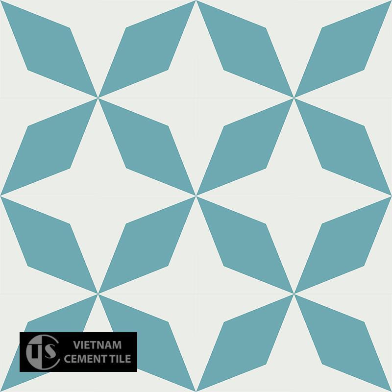 Gạch bông CTS 169.3(4-57) - 16 viên - Encaustic cement tile CTS 169.3(4-57) - 16 tiles