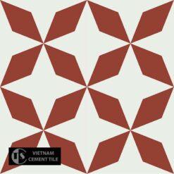 Gạch bông CTS 170.1(4-62) - 4 viên - Encaustic cement tile CTS 170.1(4-62) - 4 tiles