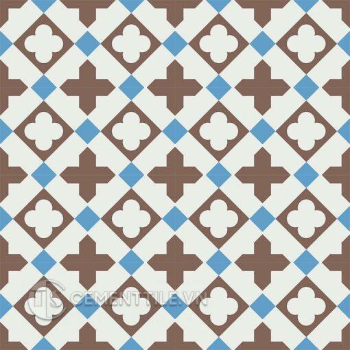 Gạch bông CTS 217.1(4-8-14) - 16 viên - Encaustic cement tile CTS 217.1(4-8-14) - 16 tiles