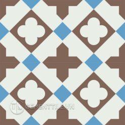 Gạch bông CTS 217.1(4-8-14) - 4 viên - Encaustic cement tile CTS 217.1(4-8-14) - 4 tiles
