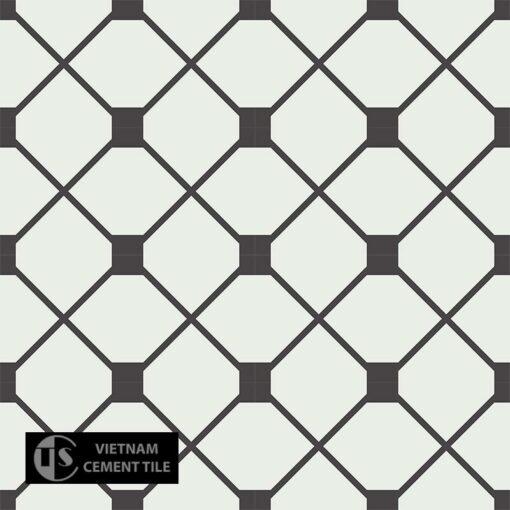 Gạch bông CTS 219.1(4-13) - 16 viên - Encaustic cement tile CTS 219.1(4-13) - 16 tiles