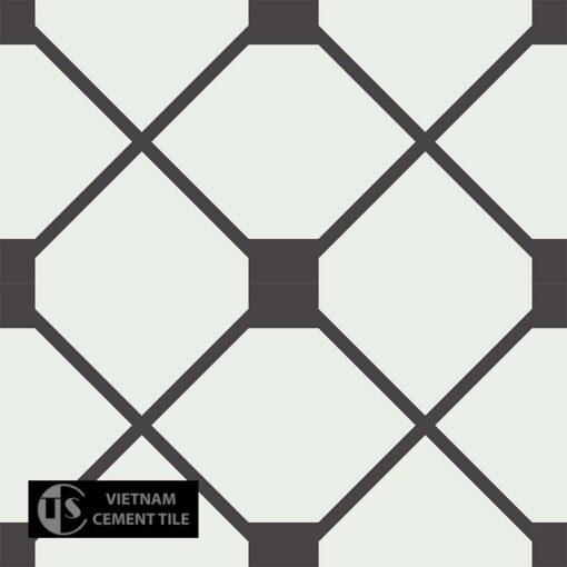 Gạch bông CTS 219.1(4-13) - 4 viên - Encaustic cement tile CTS 219.1(4-13) - 4 tiles