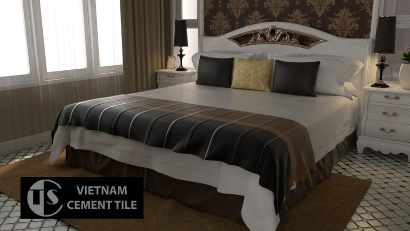 Gạch bông cts 219.1 lát nền phòng ngủ