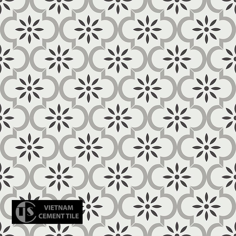 Gạch bông CTS 220.1(4-9-13) - 16 viên - Encaustic cement tile CTS 220.1(4-9-13) - 16 tiles