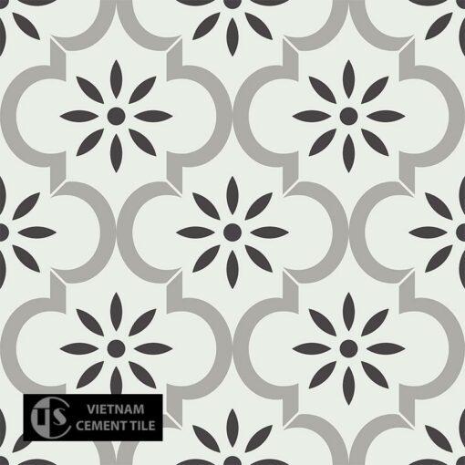 Gạch bông CTS 220.1(4-9-13) - 4 viên - Encaustic cement tile CTS 220.1(4-9-13) - 4 tiles