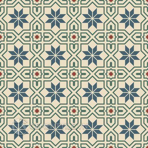 Gạch bông CTS 88.2(1-4-59-62) - 16 viên - Encaustic cement tile CTS 88.2(1-4-59-62) - 16 tiles