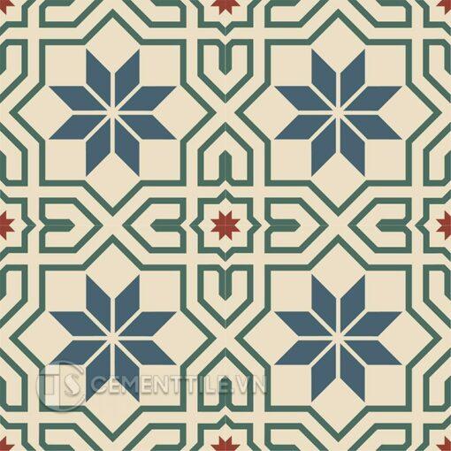 Gạch bông CTS 88.2(1-4-59-62) - 4 viên - Encaustic cement tile CTS 88.2(1-4-59-62) - 4 tiles