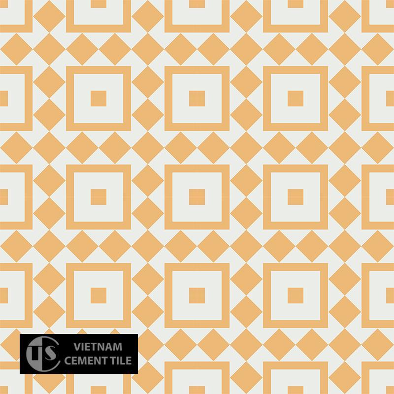 Gạch bông CTS 92.3(4-6) - 16 viên - Encaustic cement tile CTS 92.3(4-6) - 16 tiles