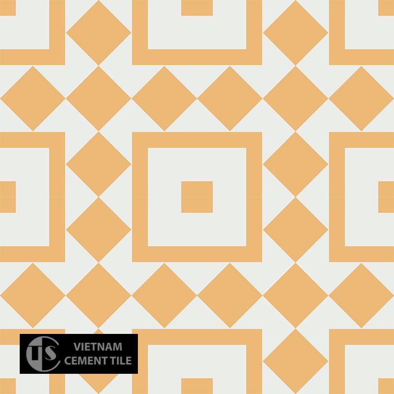 Gạch bông CTS 92.3(4-6) - 4 viên - Encaustic cement tile CTS 92.3(4-6) - 4 tiles
