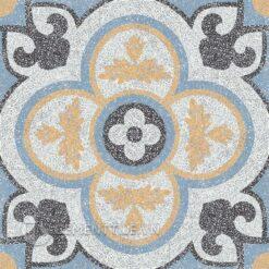 Gạch bông CTS TE-129.7(4-6-13-16) - 4 viên - Encaustic cement tile CTS TE-129.7(4-6-13-16) - 4 tiles