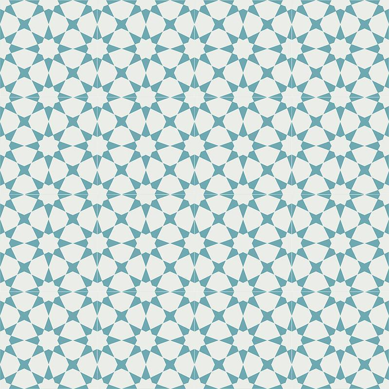 Gạch bông CTS 141.8(4-57) - 16 viên - Encaustic cement tile CTS 141.8(4-57) - 16 tiles