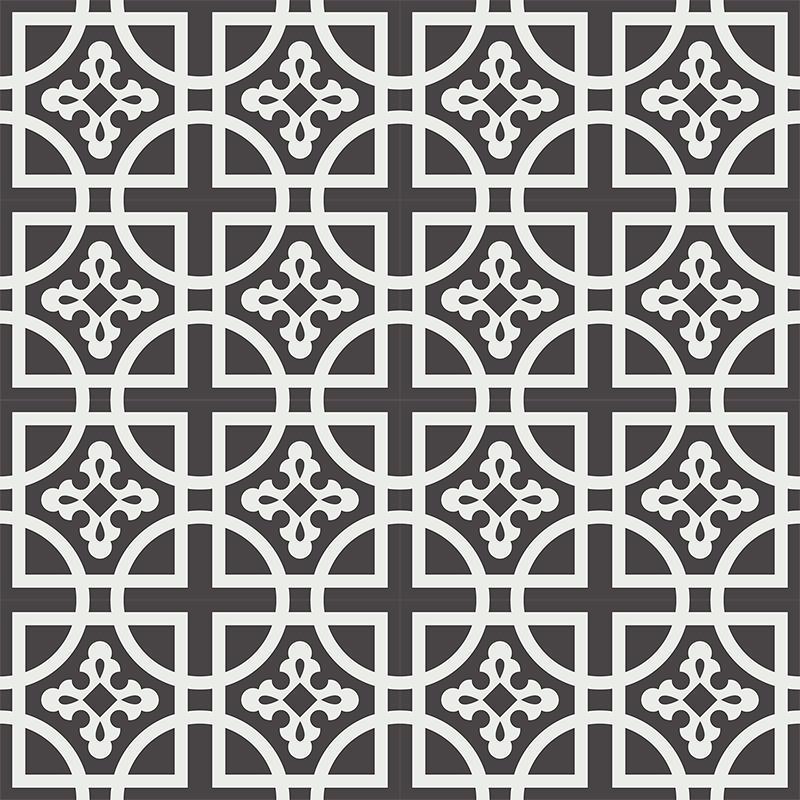 Gạch bông CTS 221.1(4-13) - 16 viên - Encaustic cement tile CTS 221.1(4-13) - 16 tiles