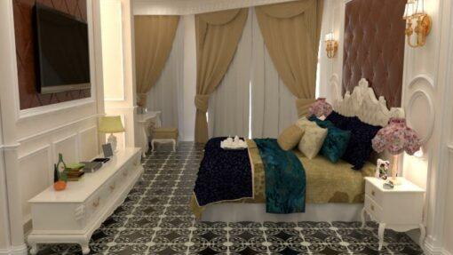 Gạch bông CTS 222.1 lát nền phòng ngủ