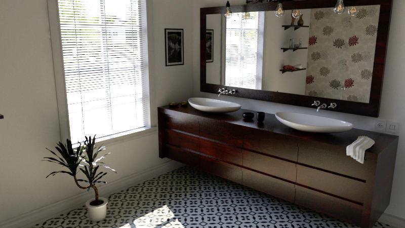 Gạch bông CTS 36.5 lát nền nhà tắm