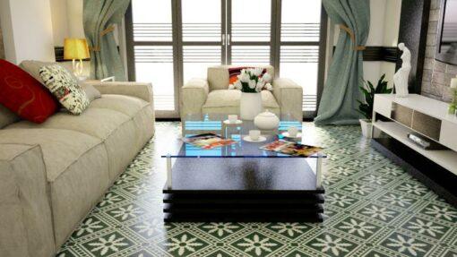 Gạch bông CTS 206.2 trang trí phòng khách