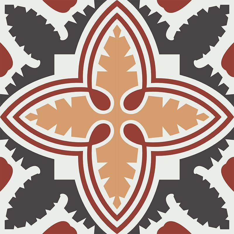 Gạch bông CTS CTS 224.1(4-13-34-62) - 4 viên - Encaustic cement tile CTS 224.1(4-13-34-62) - 4 tiles