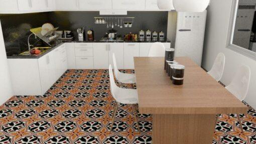 Gạch bông cổ điển CTS 224.1 lát nền nhà bếp