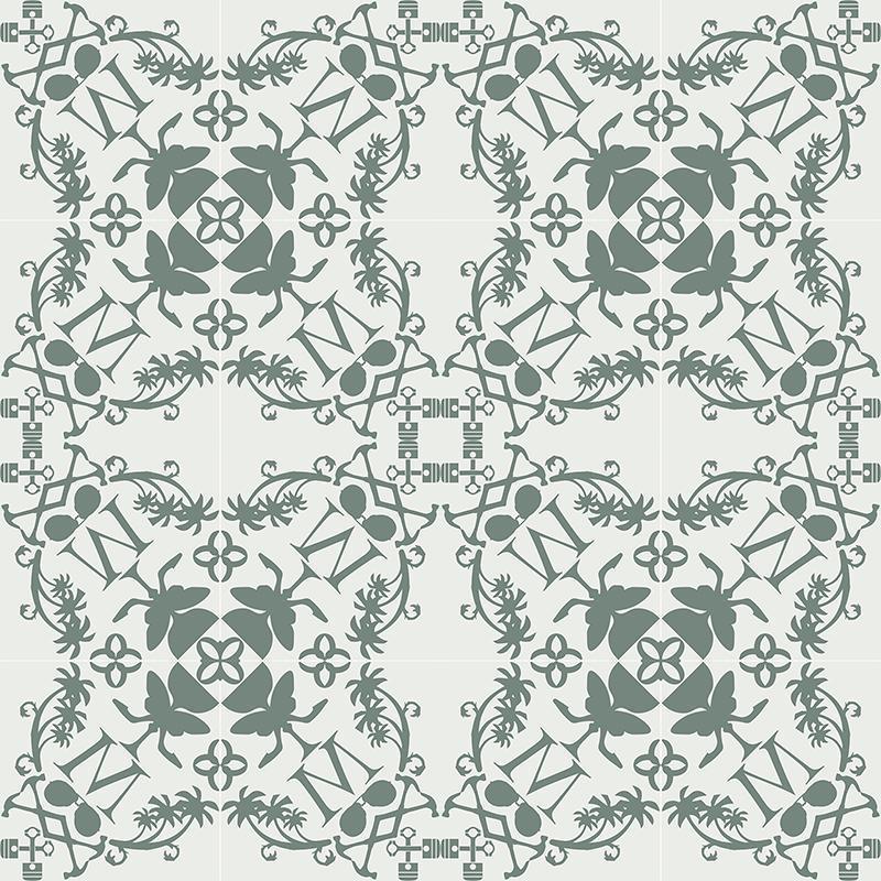 Gạch bông CTS CTS 227.1(4-24) - 16 viên - Encaustic cement tile CTS 227.1(4-24) - 16 tiles