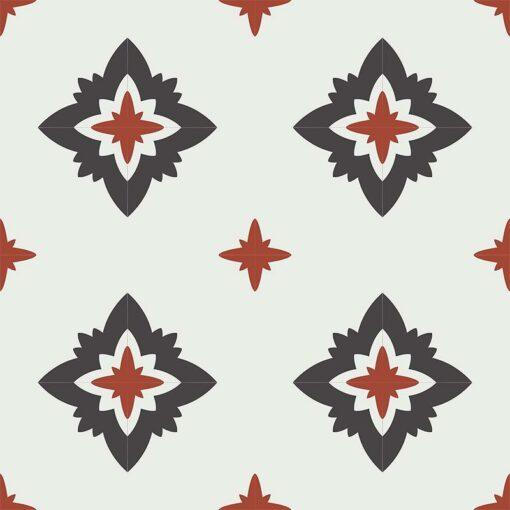 Gạch bông CTS CTS 229.1(4-13-30) - 16 viên - Encaustic cement tile CTS 229.1(4-13-30) - 16 tiles