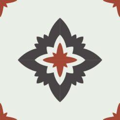 Gạch bông CTS CTS 229.1(4-13-30) - 4 viên - Encaustic cement tile CTS 229.1(4-13-30) - 4 tiles