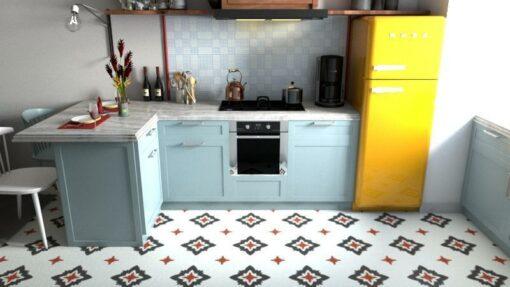 Gạch bông 20x20 cts 229.1 lát nền nhà bếp