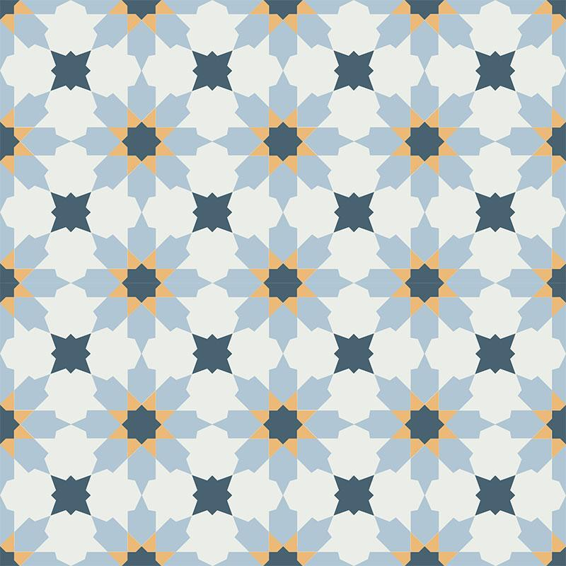 Gạch bông CTS 3.21(1-4-6-20) - 4 viên - Encaustic cement tile CTS 3.21(1-4-6-20) - 4 tiles