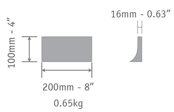 cement tile R 10x20 cm