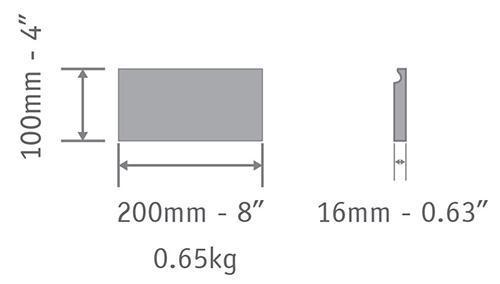 cement tile U 10x20 cm