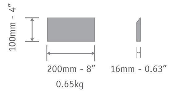 cement tile V 10x20 cm
