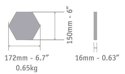 cement tile hexagon 15cm