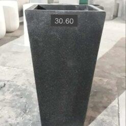 Chậu đá mài vuông vát đen