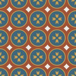 Gạch bông CTS 0.2(1-4-6-62) - 4 viên - Encaustic cement tile CTS 0.2(1-4-6-62) -4tiles