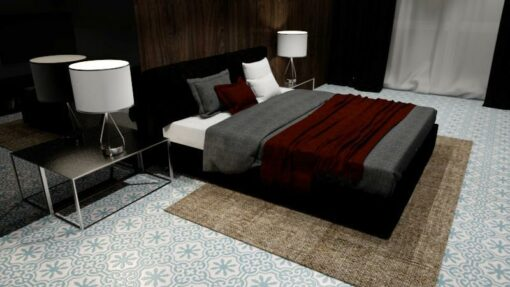 gạch bông cts 1.51 lát nền phòng ngủ