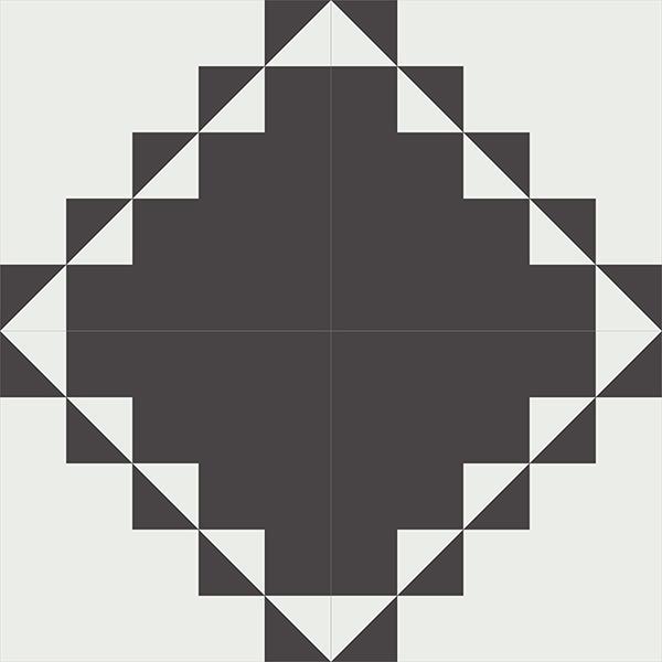 Gạch bông CTS 260.1(4-13) - 4 viên - Encaustic cement tile CTS 260.1(4-13) - 4 tiles