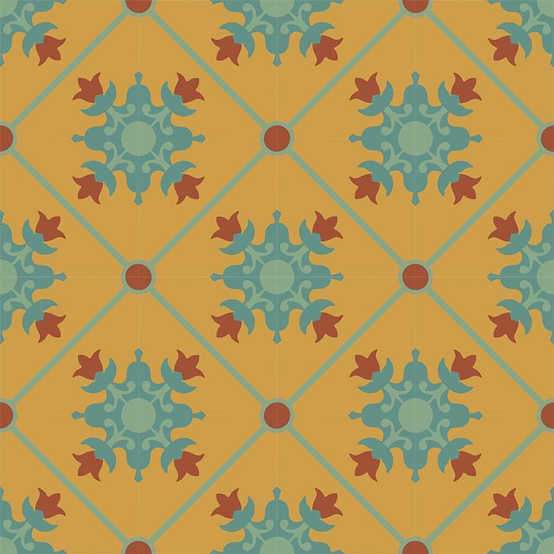 Gạch bông CTS 23.3(6-7-40-62) - 16 viên - Encaustic cement tile CTS 23.3(6-7-40-62) - 16 tiles