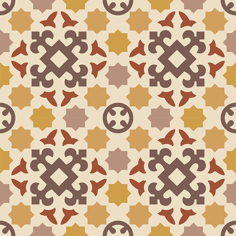 Gạch bông CTS 33.2(6-18-34-59-60-62) - 4 viên - Encaustic cement tile CTS 33.2(6-18-34-59-60-62) - 4 tiles