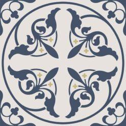Gạch bông CTS 195.2(4-52-100) - 4 viên - Encaustic cement tile CTS 195.2(4-52-100) - 4 tiles