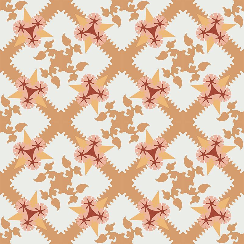 Gạch bông CTS 258.1(4-6-34-38-30) - 16 viên - Encaustic cement tile CTS 258.1(4-6-34-38-30) - 16 tiles