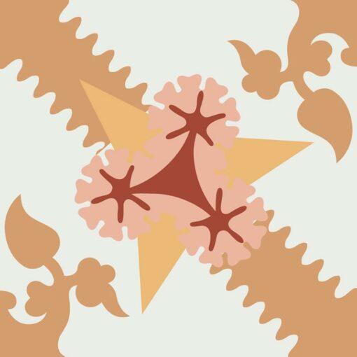 Gạch bông CTS 258.1(4-6-34-38-30) - Encaustic cement tile CTS 258.1(4-6-34-38-30)
