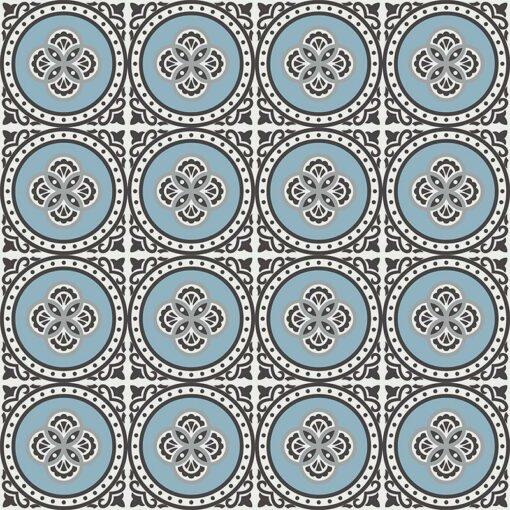 Gạch bông CTS 262.1(2-4-9-13) - 16 viên - Encaustic cement tile CTS 262.1(2-4-9-13) - 16 tiles