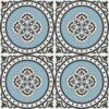 Gạch bông CTS 262.1(2-4-9-13) - 4 viên - Encaustic cement tile CTS 262.1(2-4-9-13) - 4 tiles