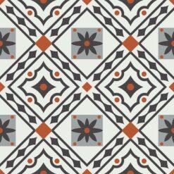 Gạch bông CTS 263.1(4-5-9-13) - 4 viên - Encaustic cement tile CTS 263.1(4-5-9-13) - 4 tiles