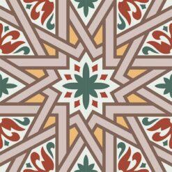 Gạch bông CTS 266.1(4-6-14-22-30-40) - 4 viên - Encaustic cement tile CTS 266.1(4-6-14-22-30-40) - 4 tiles