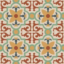 Gạch bông CTS 76.3(7-19-34-59-62) - 4 viên - Encaustic cement tile CTS 76.3(7-19-34-59-62) - 4 tiles