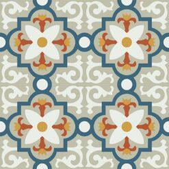 Gạch bông CTS 76.4(1-4-5-6-12) - 4 viên - Encaustic cement tile CTS 76.4(1-4-5-6-12) - 4 tiles